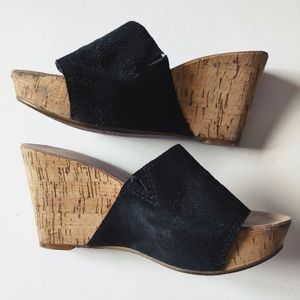 NINE WEST suede wedge sandals